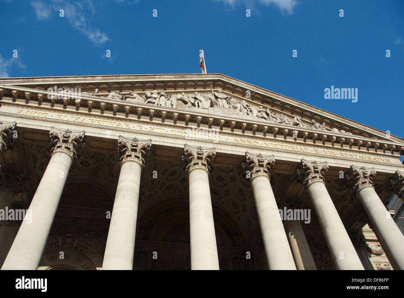 Royal Exchange luxury shopping centre in The City, London, Great Britain, Europe. - Stock Image