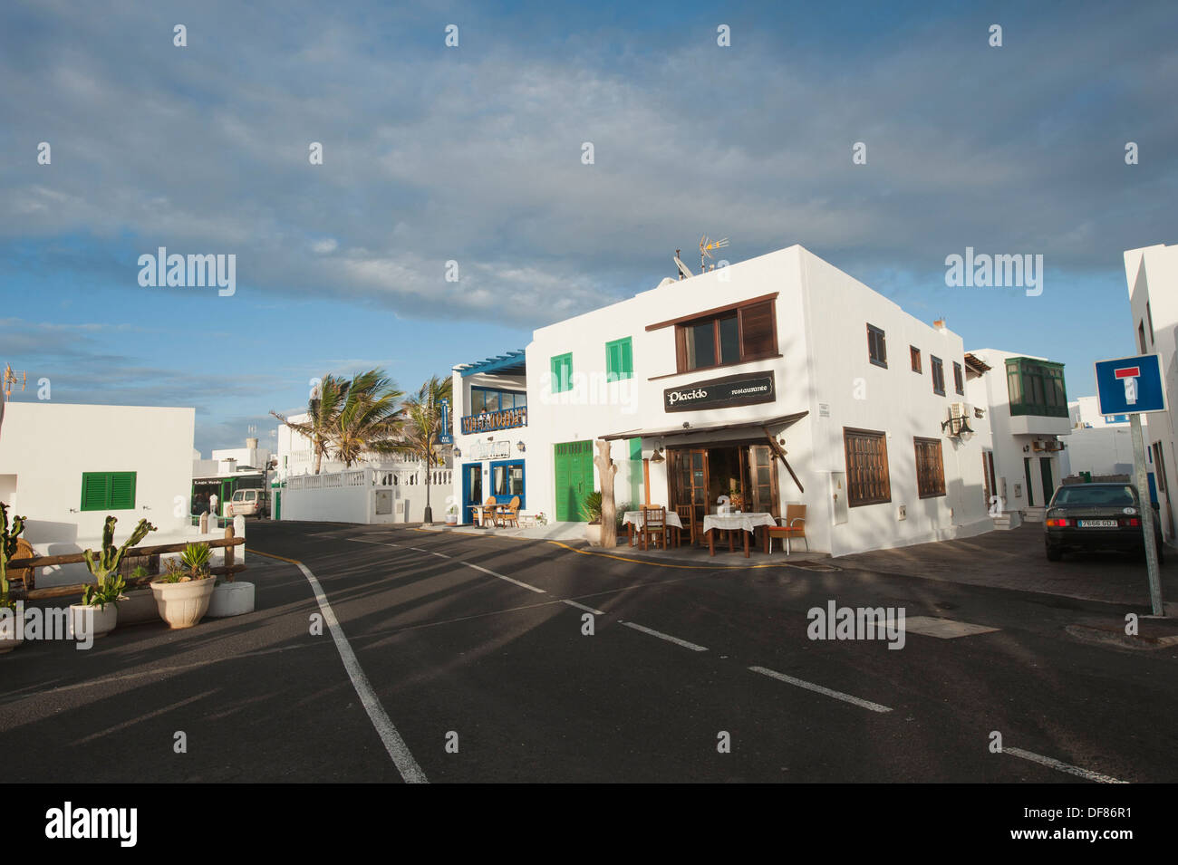 Street views ar El Golfo, Lanzarote, Canary Islands, Spain. Stock Photo