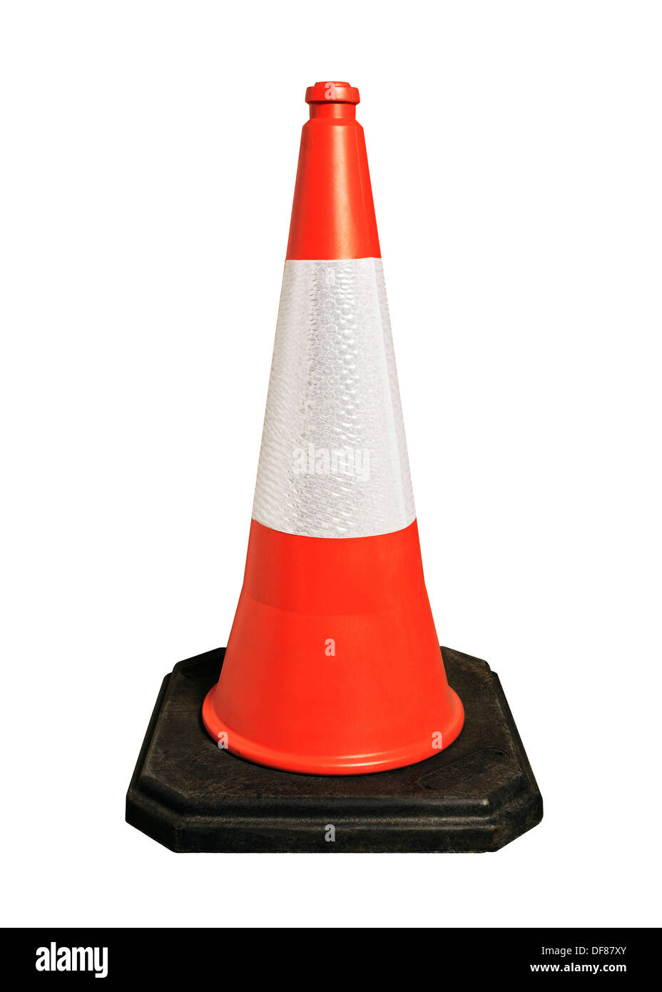 Traffic Cone, Cut Out. Stock Photo