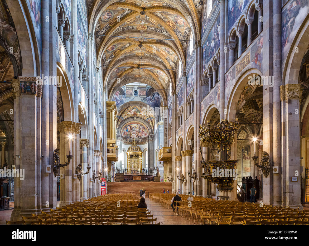 Interior of the Duomo, Parma, Emilia Romagna, Italy - Stock Image