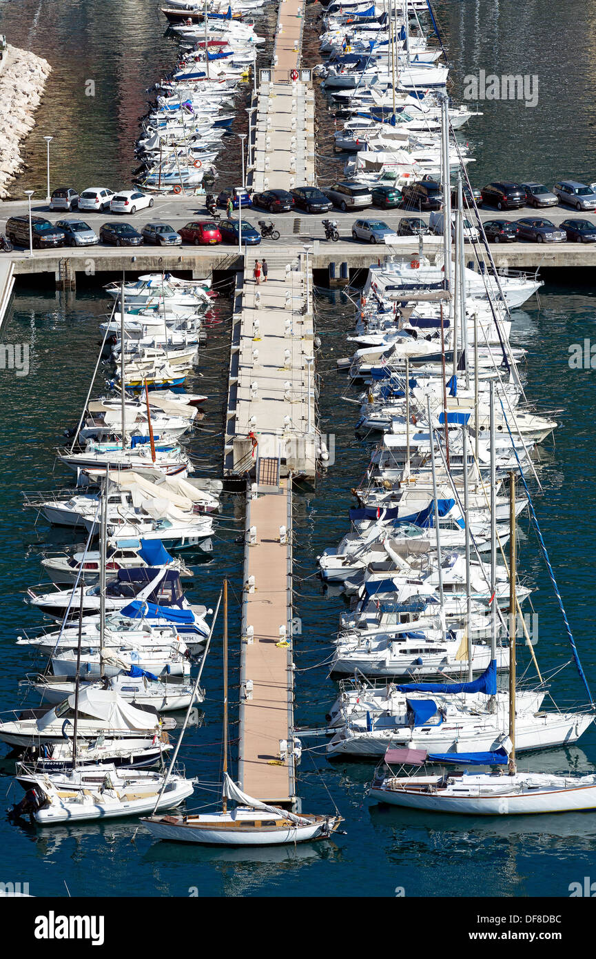 Europe, France, Principality of Monaco, Monte Carlo. Monaco harbor, Port Hercule. - Stock Image