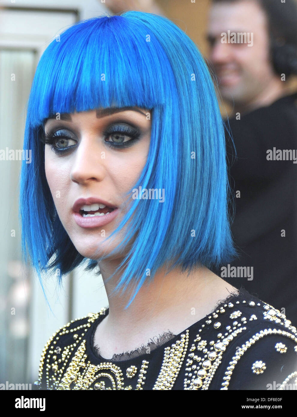 Katey Perry appears on BBC1 radio Live Lounge studios London 19/03/2012 - Stock Image
