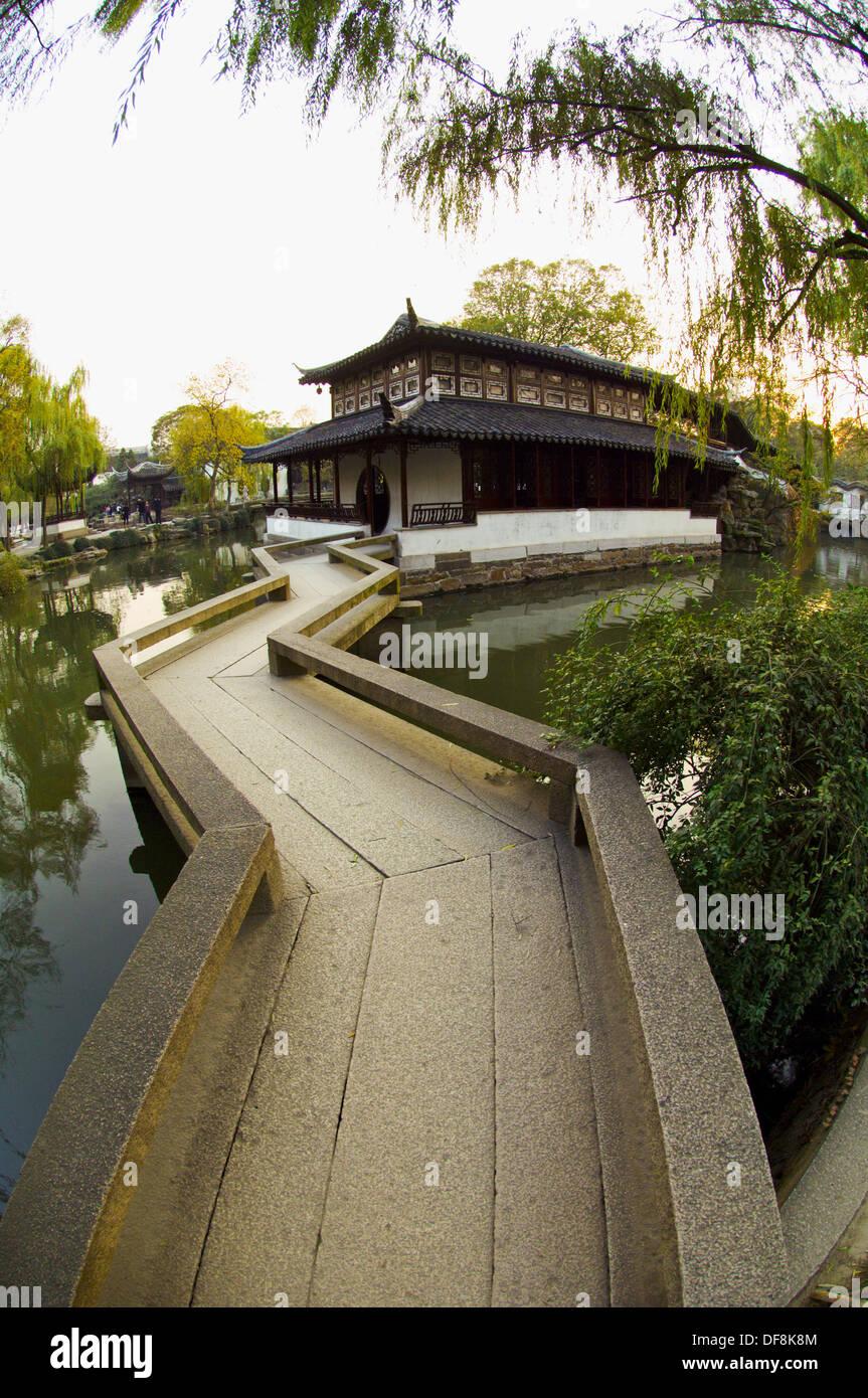 Humble Administrator´s Garden, Suzhou, China - Stock Image