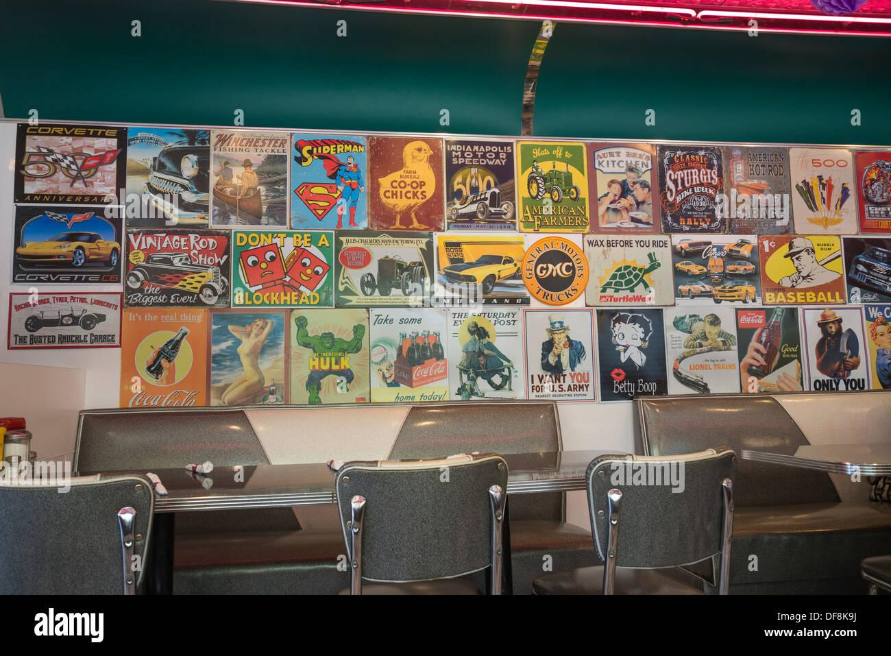 Interior Of American Diner Stock Photos Amp Interior Of