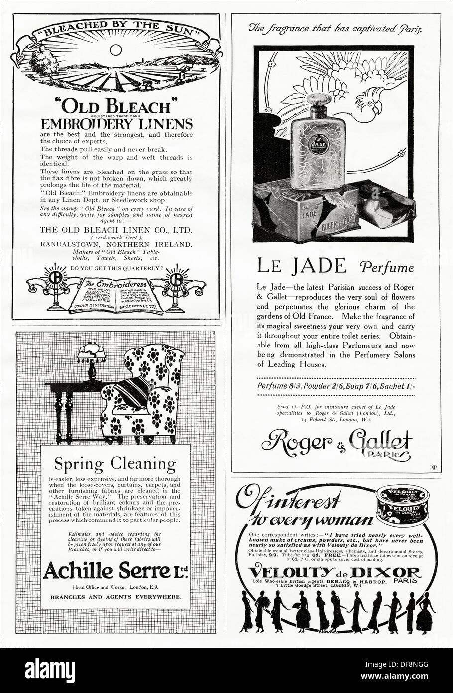 Page of ads  Original 1920s advertisements advertising