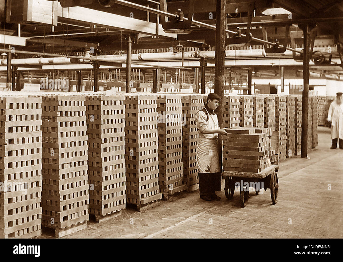 Port Sunlight - soap stacked to dry - early 1900s - Stock Image