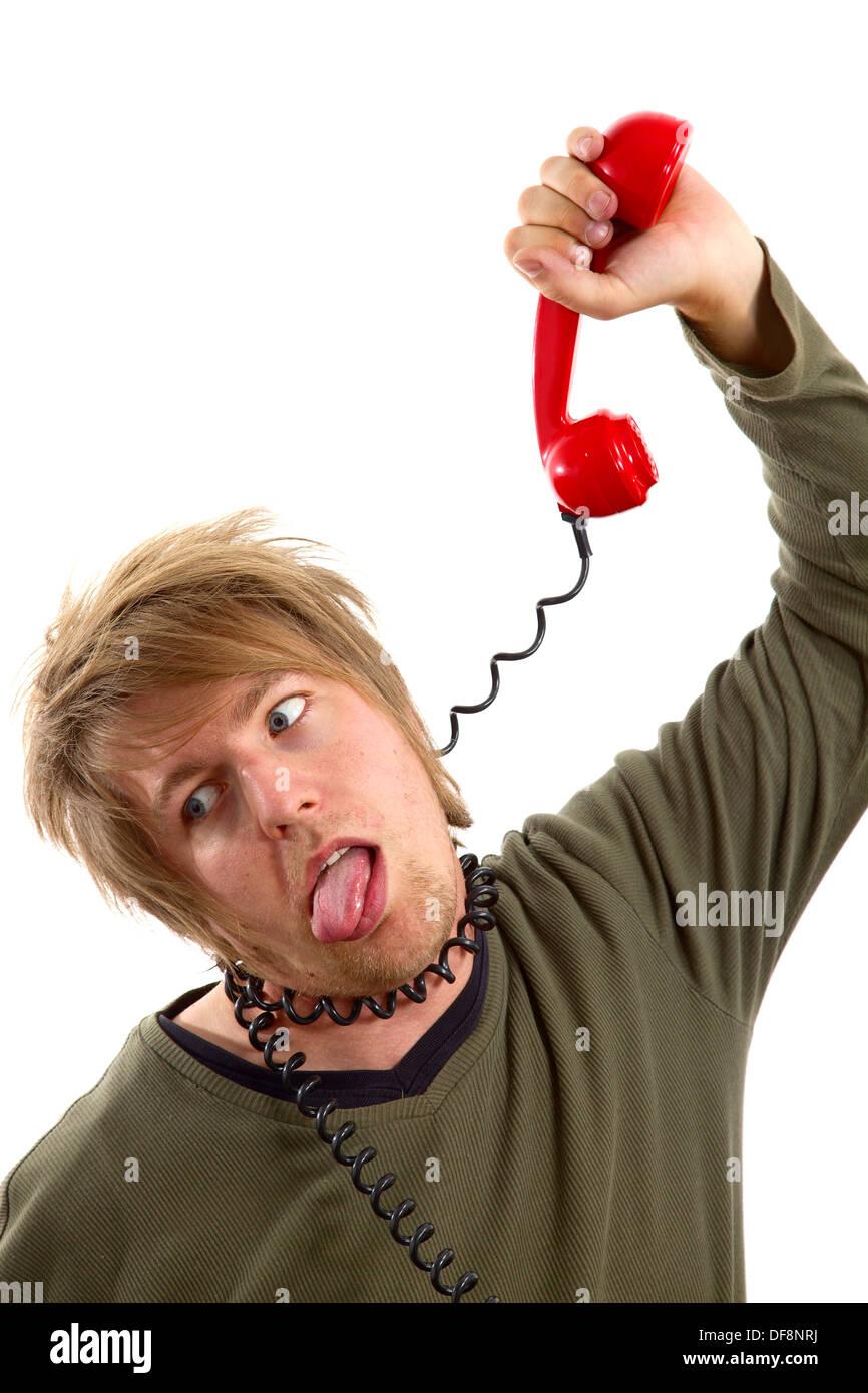 Phone hang - Stock Image