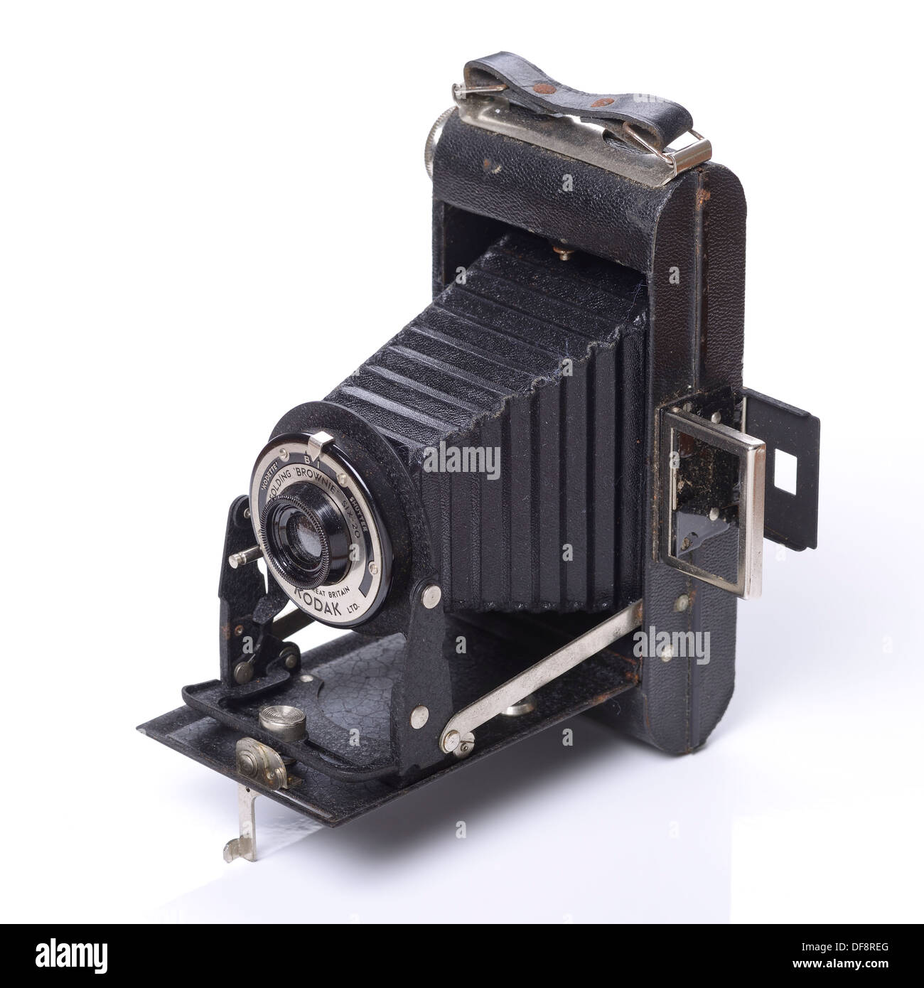 Old retro vintage Kodak Folding Brownie camera - Stock Image