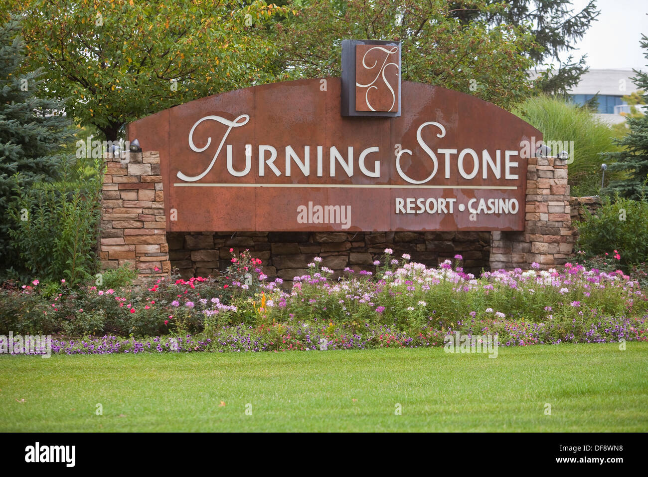 Turning Stone Resort & Casino is pictured in Verona, NY - Stock Image