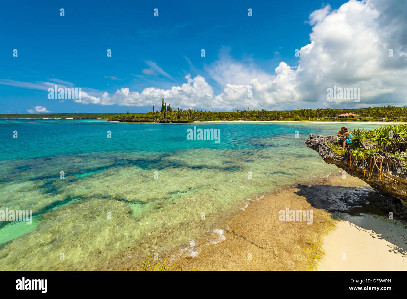 Mou Beach, Lifou island, Loyalty Islands, New Caledonia - Stock Image