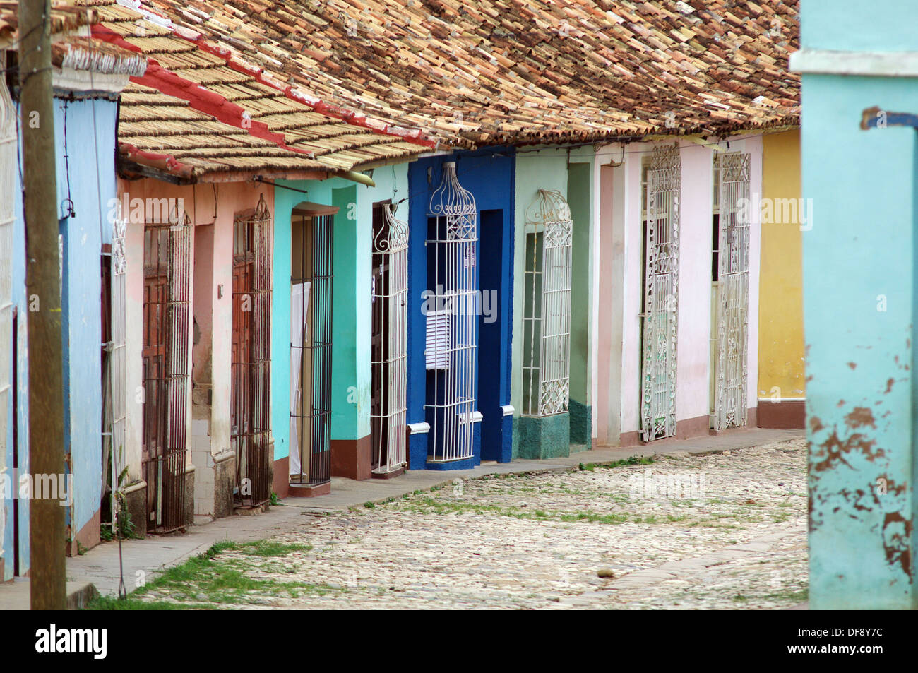 The time-warped town of Trinidad - Cuba - Stock Image
