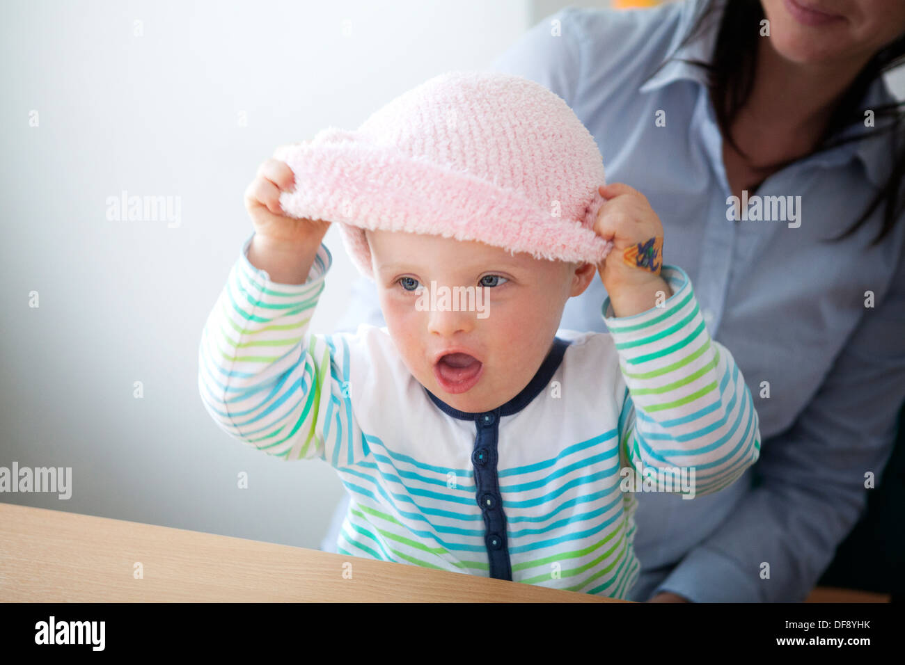 CHILD, DOWN'S SYNDROME - Stock Image