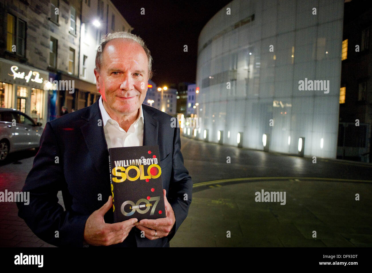 Edinburgh, UK. 30th Sept, 2013. William Boyd author with his new James Bond novel Solo at the Royal Lyceum Theatre in Edinburgh to discuss the book. All pictures must be credited to Steven Scott Taylor/ Alamy Live News - Stock Image