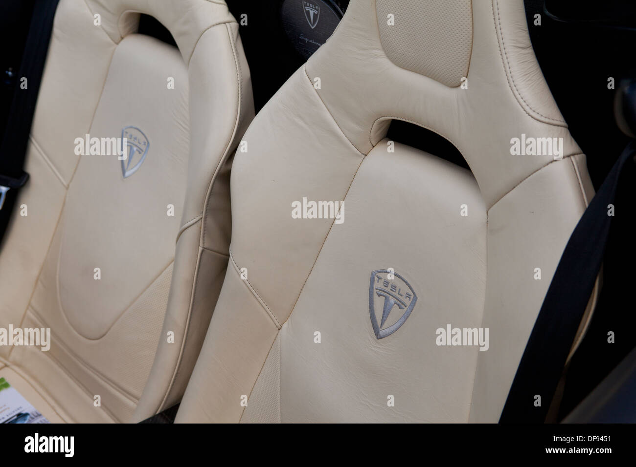 Tesla Roadster bucket seats - Stock Image