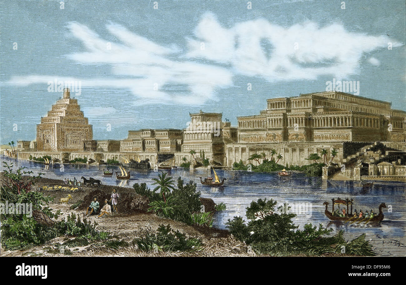 ancient age palace of the kings of assyria to the city of nineveh