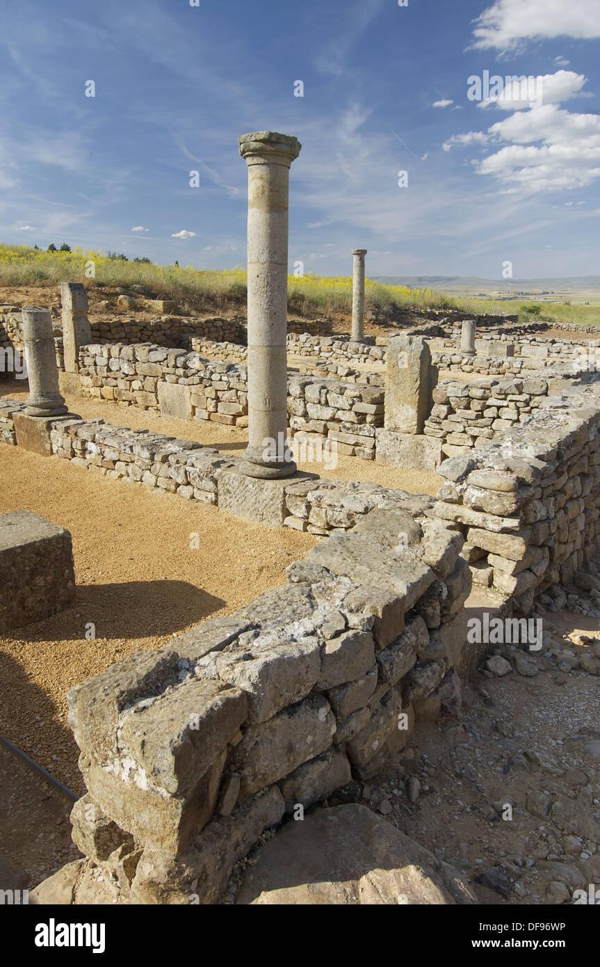 Yacimiento arqueológico de Numancia; Garray; Soria; Castilla-León; España - Stock Image