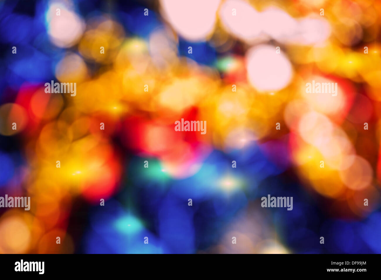 Blurred abstract background lights, beautiful Christmas - Stock Image