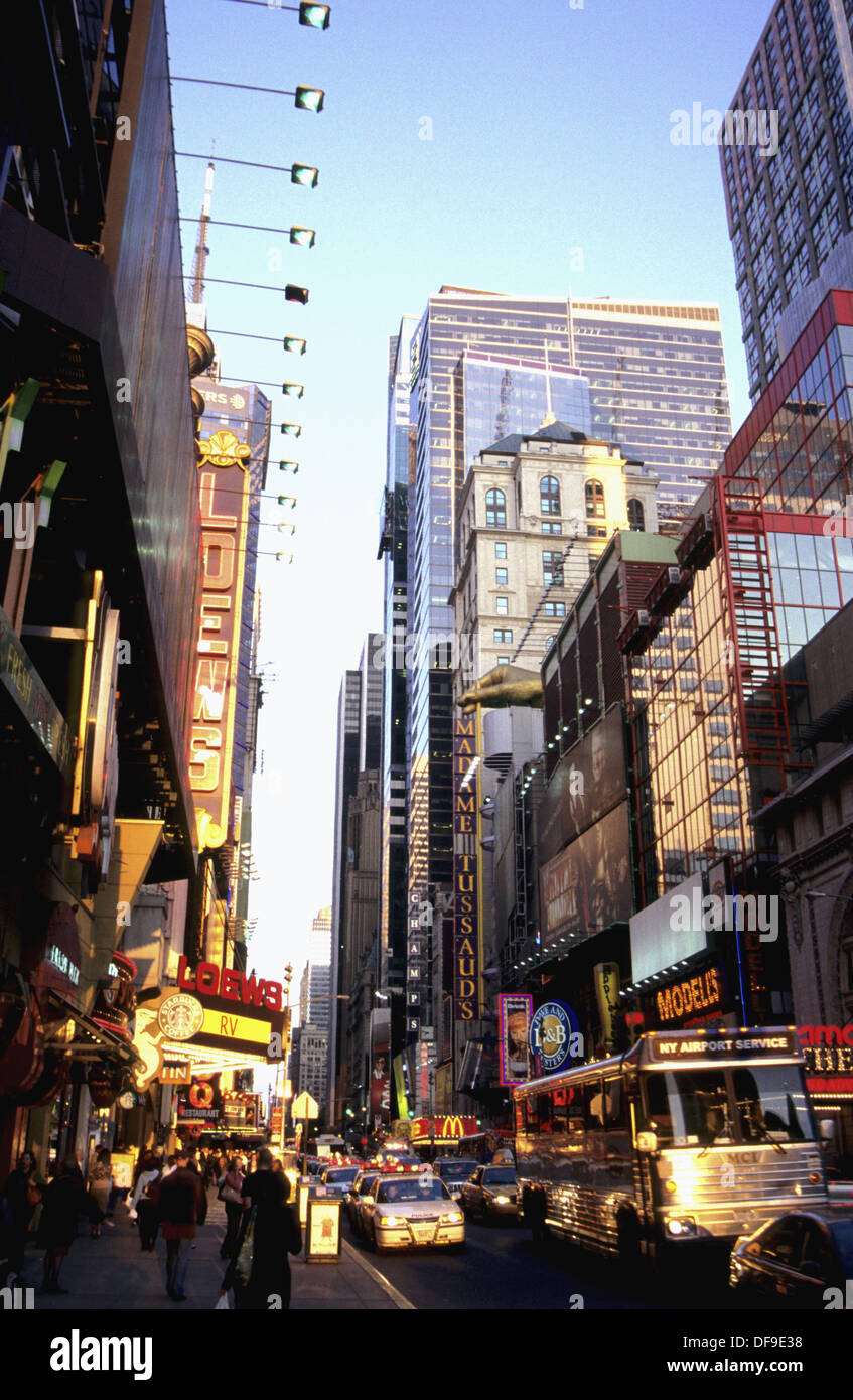42nd Street. Late Afternoon Sun. Manhattan. New York City. United States - Stock Image