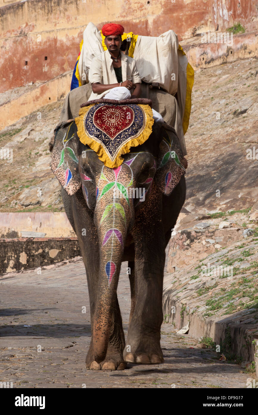 The word mahout comes from the Hindi which originates from Sanskrit. - Stock Image