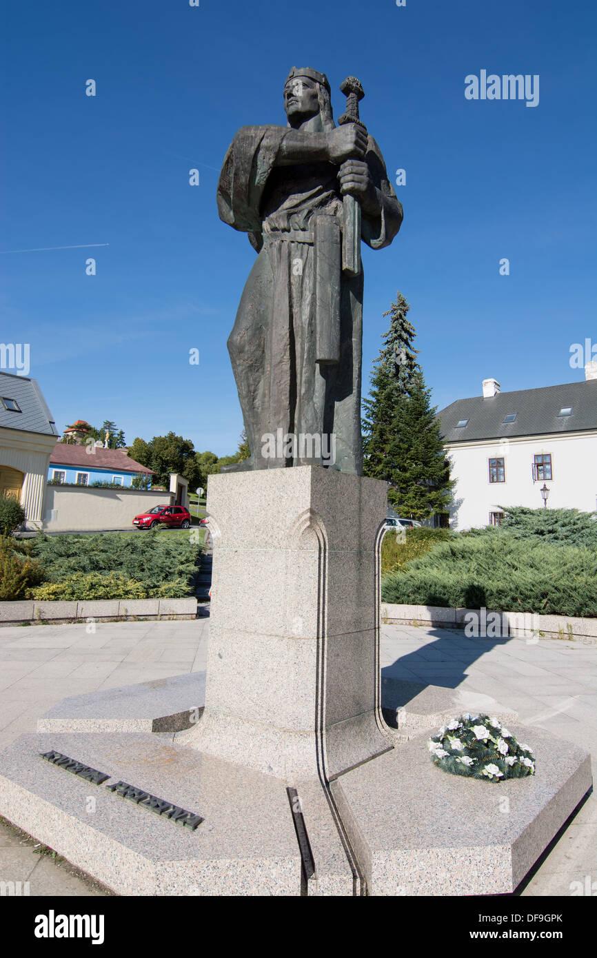Pribina statue in Nitra, Slovak republic. - Stock Image