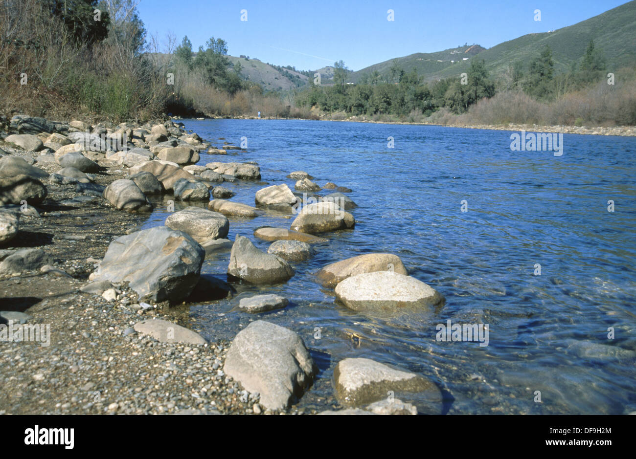 Marshall Gold Discovery State Historic Park: South Fork of American River (in 1848 James Marshall found gold here). California. - Stock Image