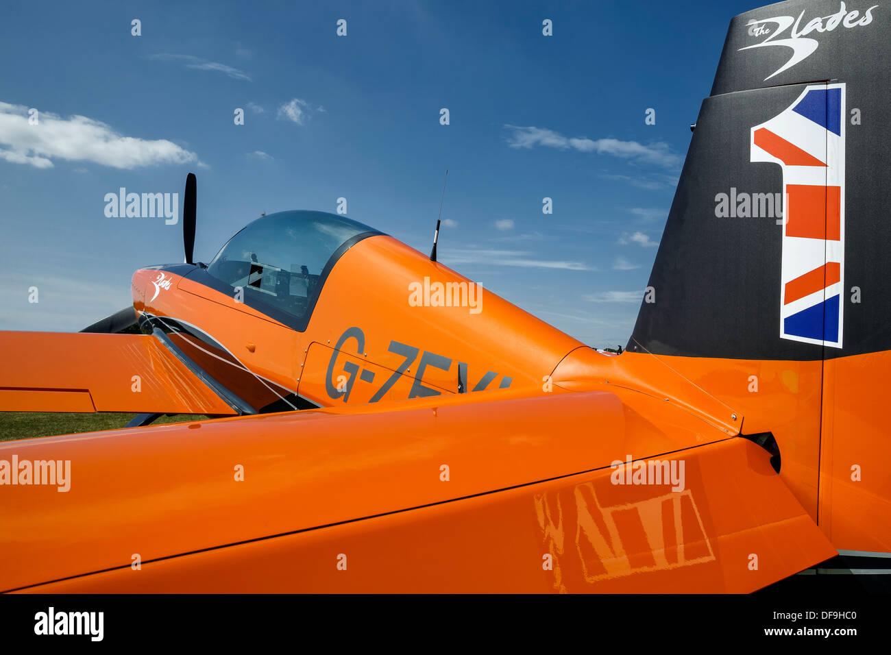 A Walter Extra EA300 aerobatic aircraft of the Blades aerobatic team - Stock Image