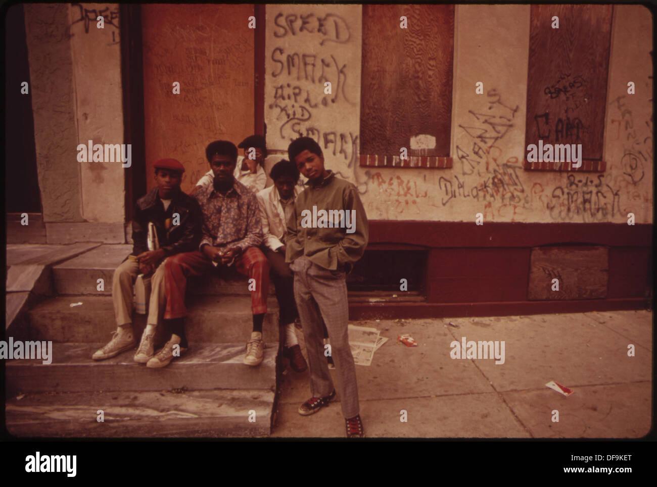 STREET GANG MEMBERS 552753 - Stock Image