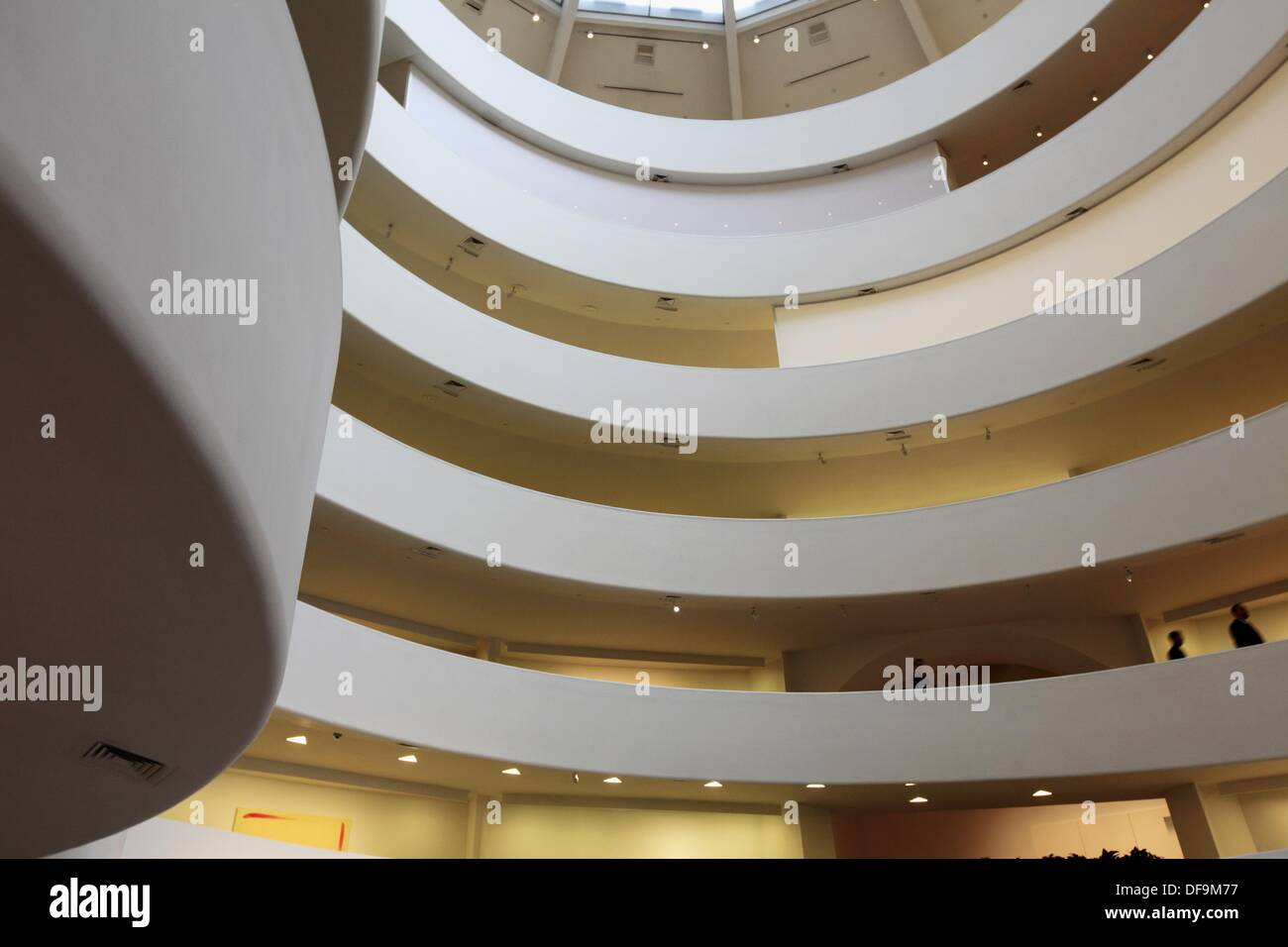The interior view of Solomon R Guggenheim Museum in upper town Manhattan  New York City USA 0feb39a5f53b