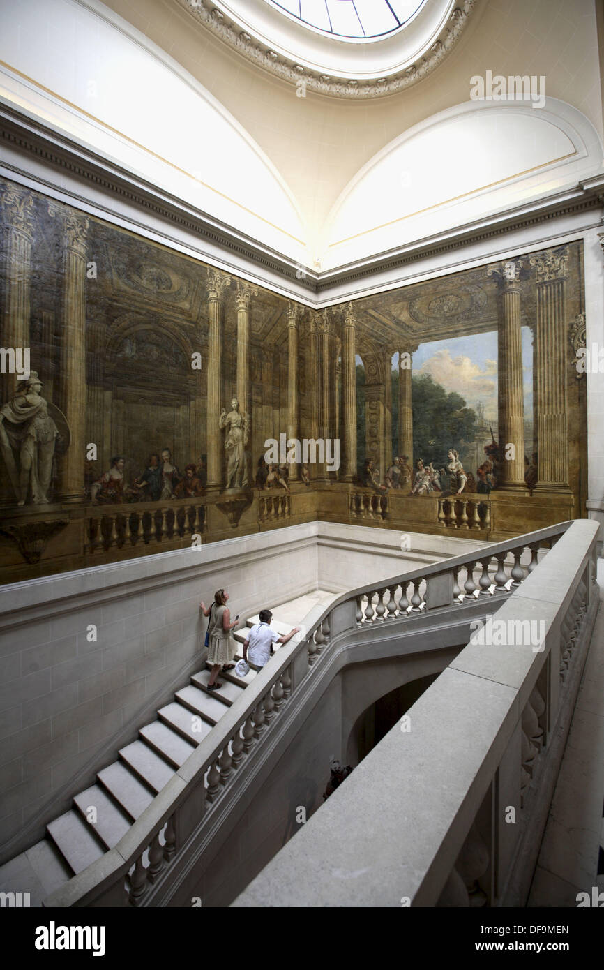 Escalier de Luynes (Stair of Luynes) in the Carnavalet Museum in Le Marais, Paris. France - Stock Image