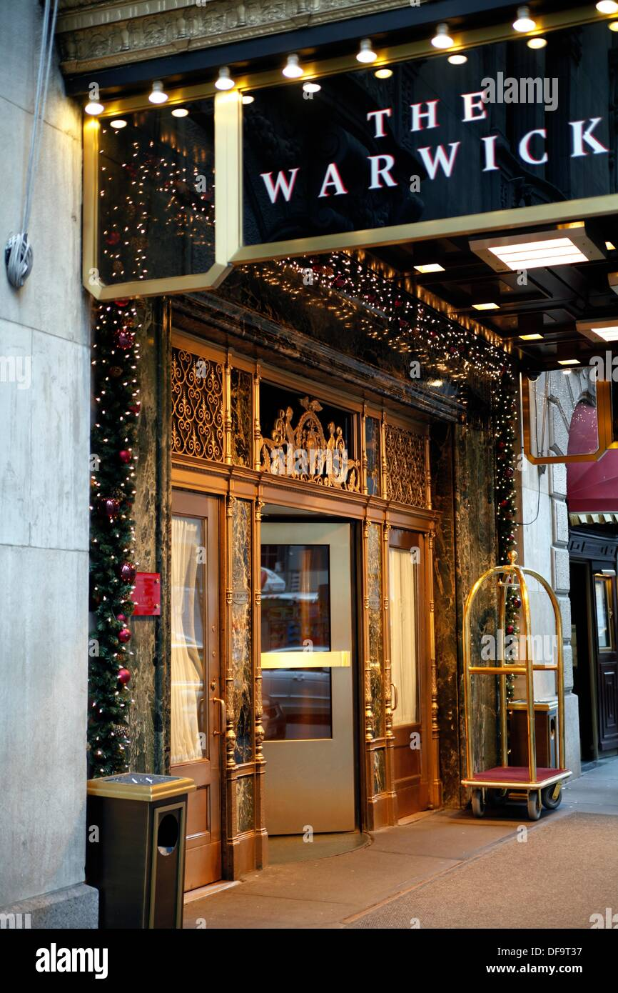 Entrance To The Warwick Hotel East 54th Street New York Ny At