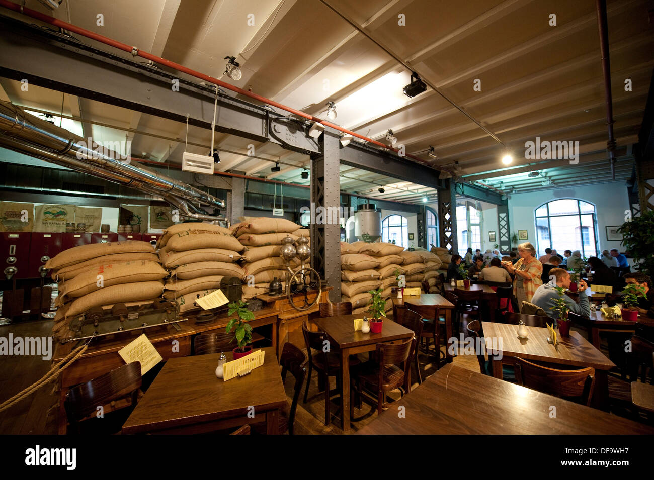 coffee roastery and cafe speicherstadt hamburg germany stock photo 61068595 alamy. Black Bedroom Furniture Sets. Home Design Ideas