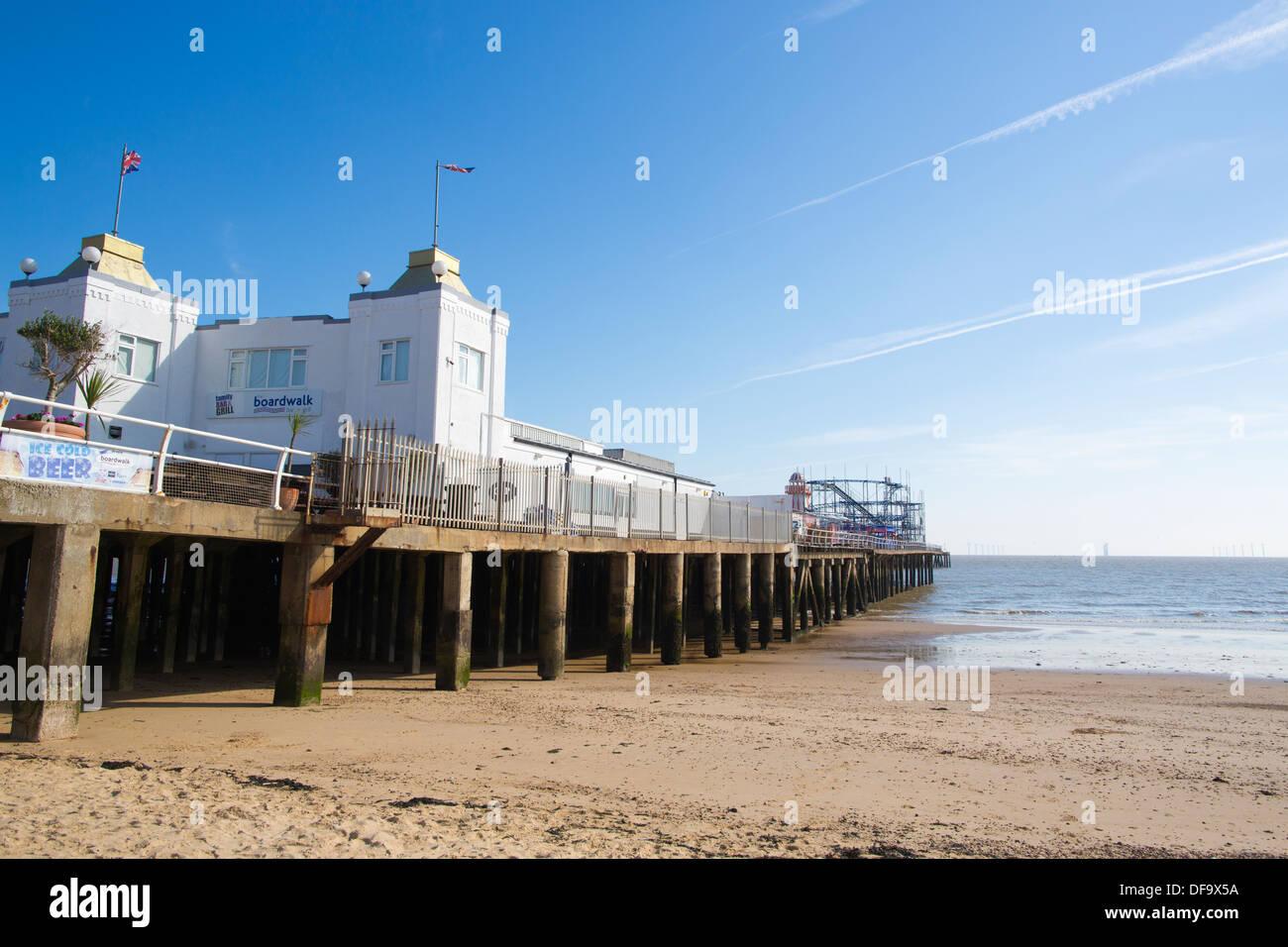 Clacton-on-Sea Pier, Clacton-on-Sea, Essex - Stock Image
