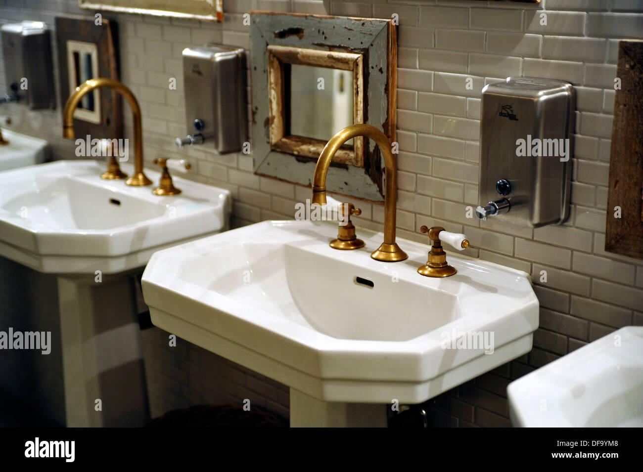 Pedestal Sinks - Stock Image