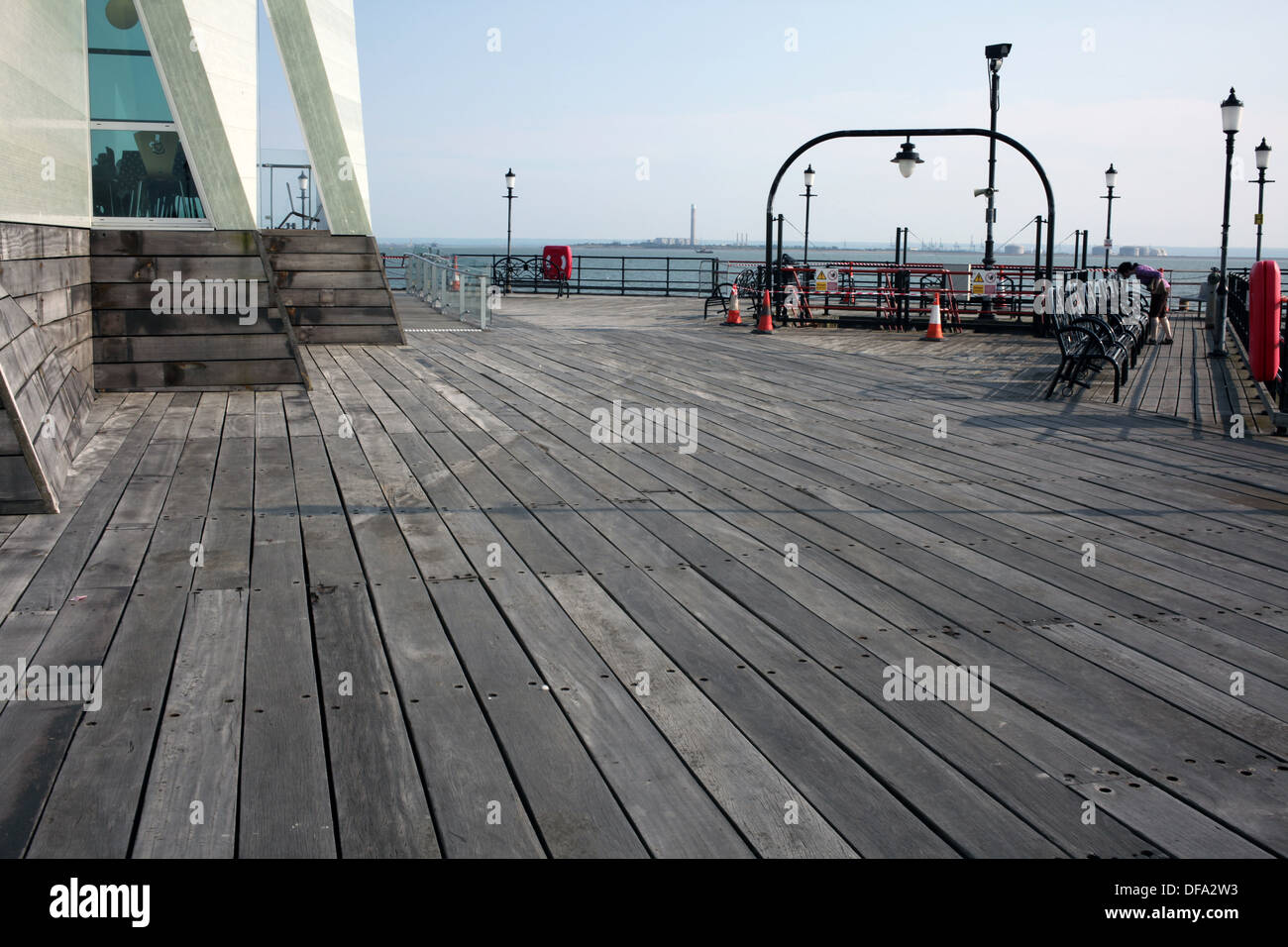 Southend on Sea Pier - Westcliff-on-sea - Southend-on-sea - Sussex - England - UK - Stock Image