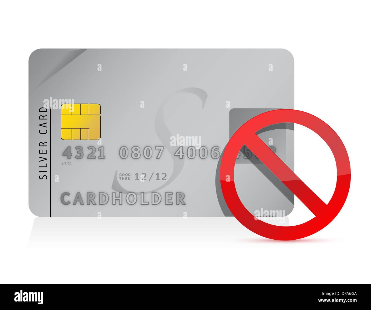 declined Credit Card illustration design - Stock Image