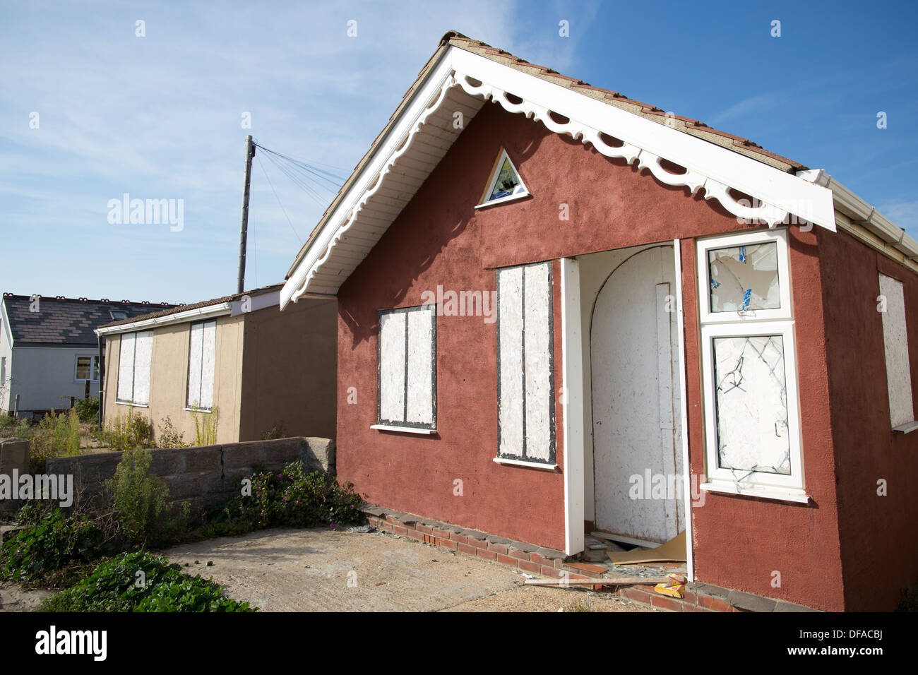 Jaywick, Brooklands Estate, Essex coastal town, considered the most deprived community in England, UK Stock Photo