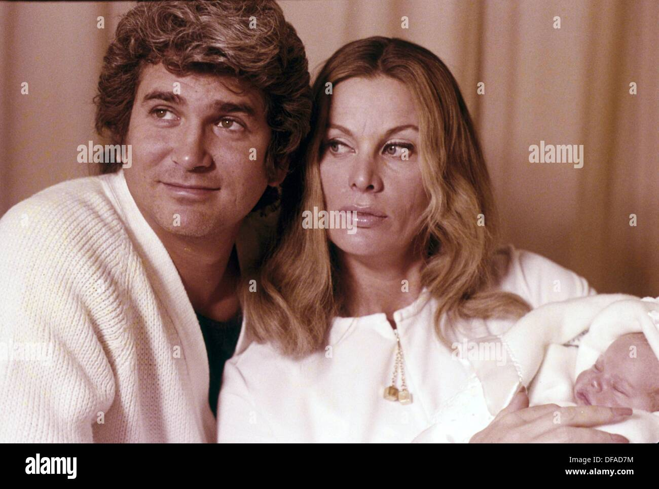 MICHAEL LANDON with wife Lynn and daughter Shawna Leigh ...