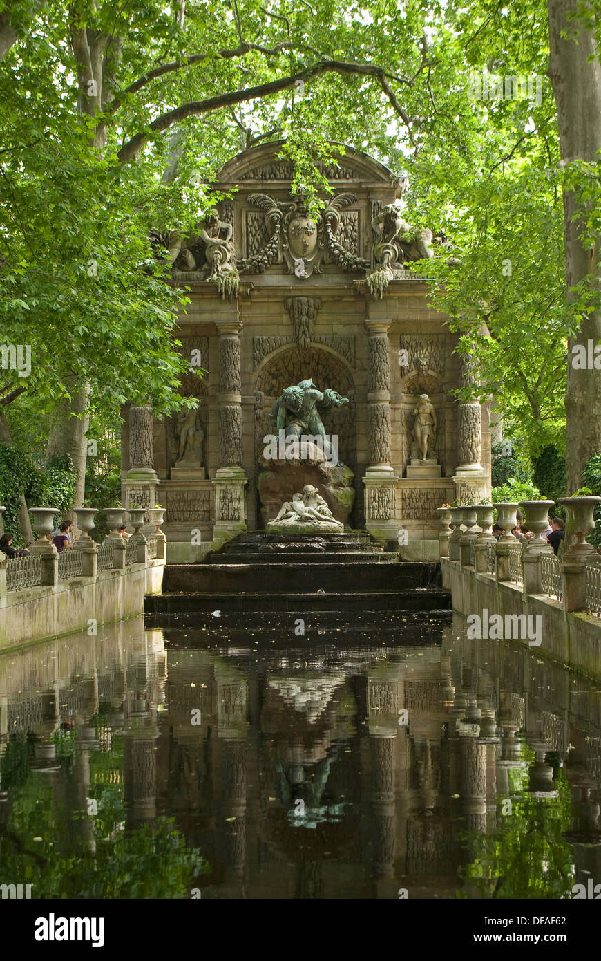 Marie de Medici´s Fountain in the Luxembourg Gardens, Paris, France - Stock Image