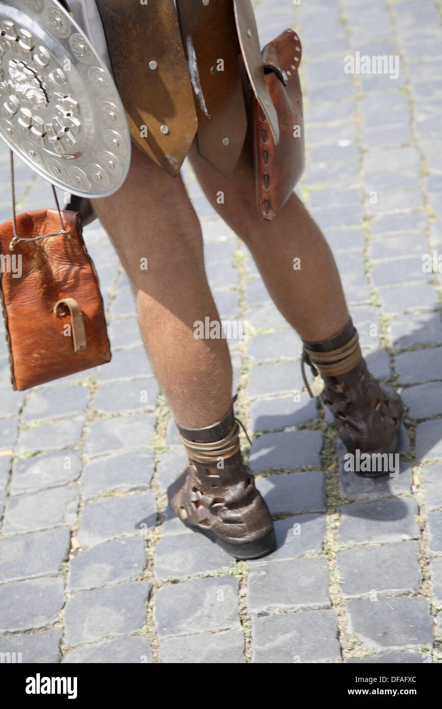 Gladiator look alike by the Colosseum in Rome. 2006. Rome. Lazio. Italy. - Stock Image