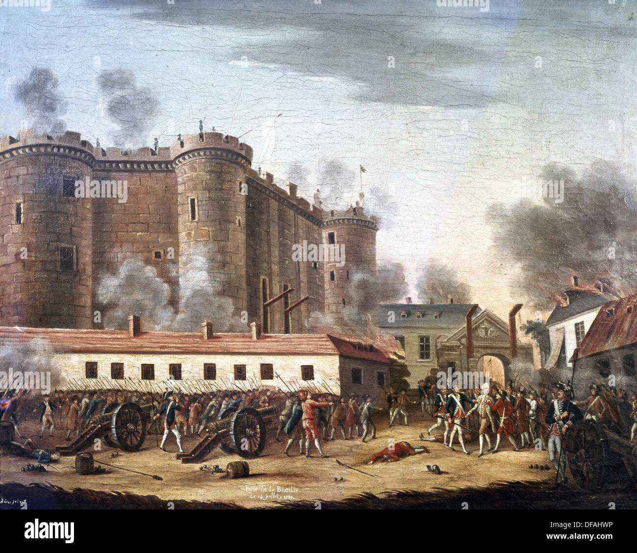 French Revolution. The Storming of the Bastille. July 14, 1789. Oil on  canvas. 18th century. Carnavalet Museum. Paris. France.