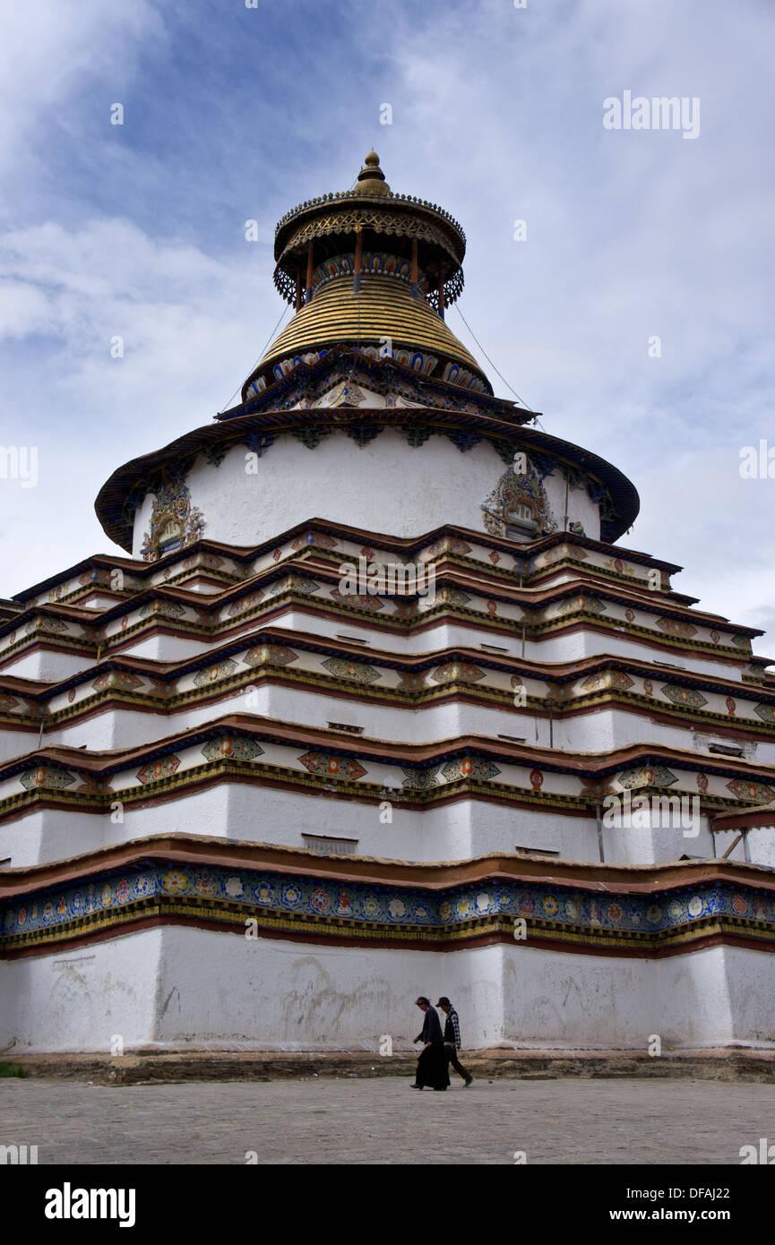 Kumbum Chörten, Palkhor Chöde, Palcho Monastery, Gyantse, Tibet - Stock Image