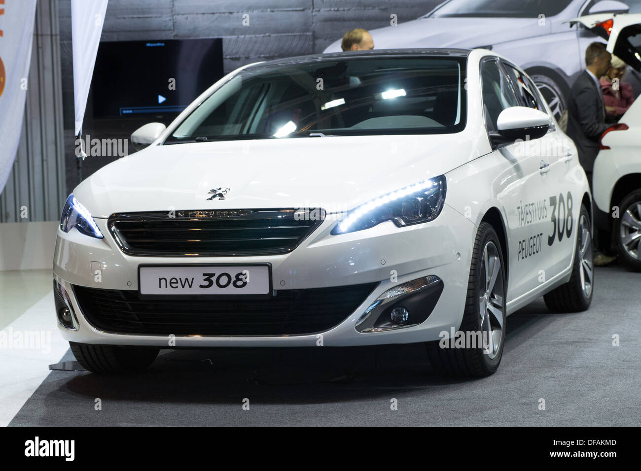 Peugeot 308 family car - Peugeot is a respected French car Stock ...