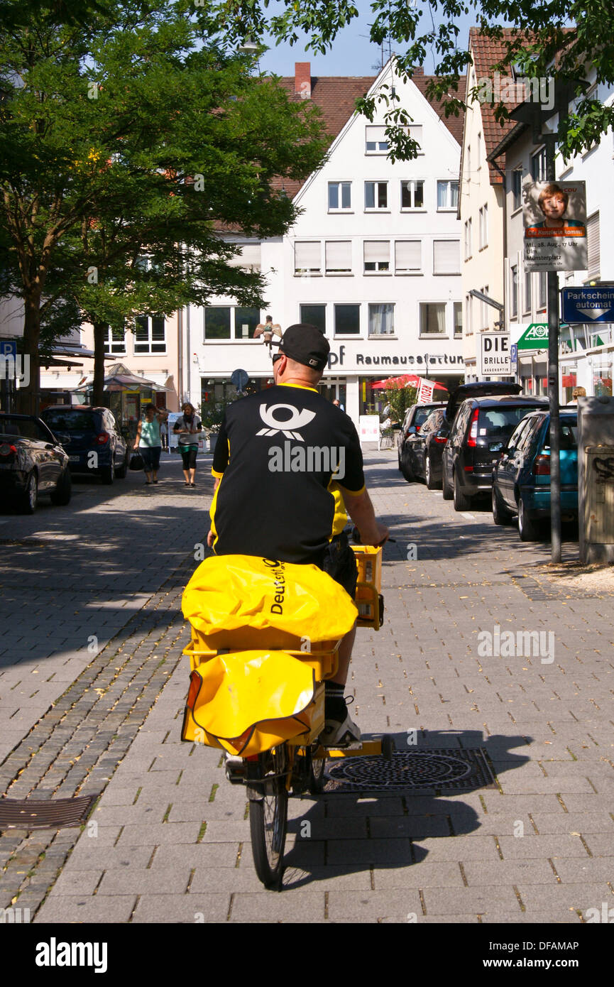 bicycle of a postman with letter post stock photos bicycle of a postman with letter post stock. Black Bedroom Furniture Sets. Home Design Ideas