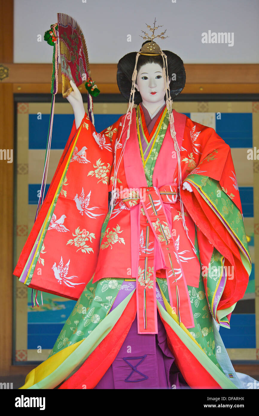 A multi-layered kimono on a mannequin - Stock Image
