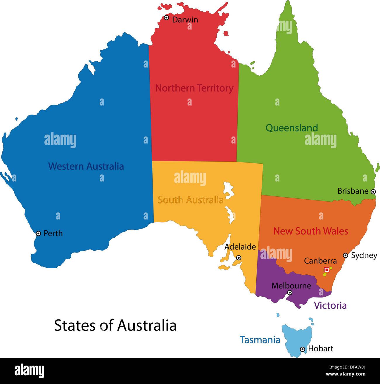 Australia map Stock Photo: 61090446 - Alamy
