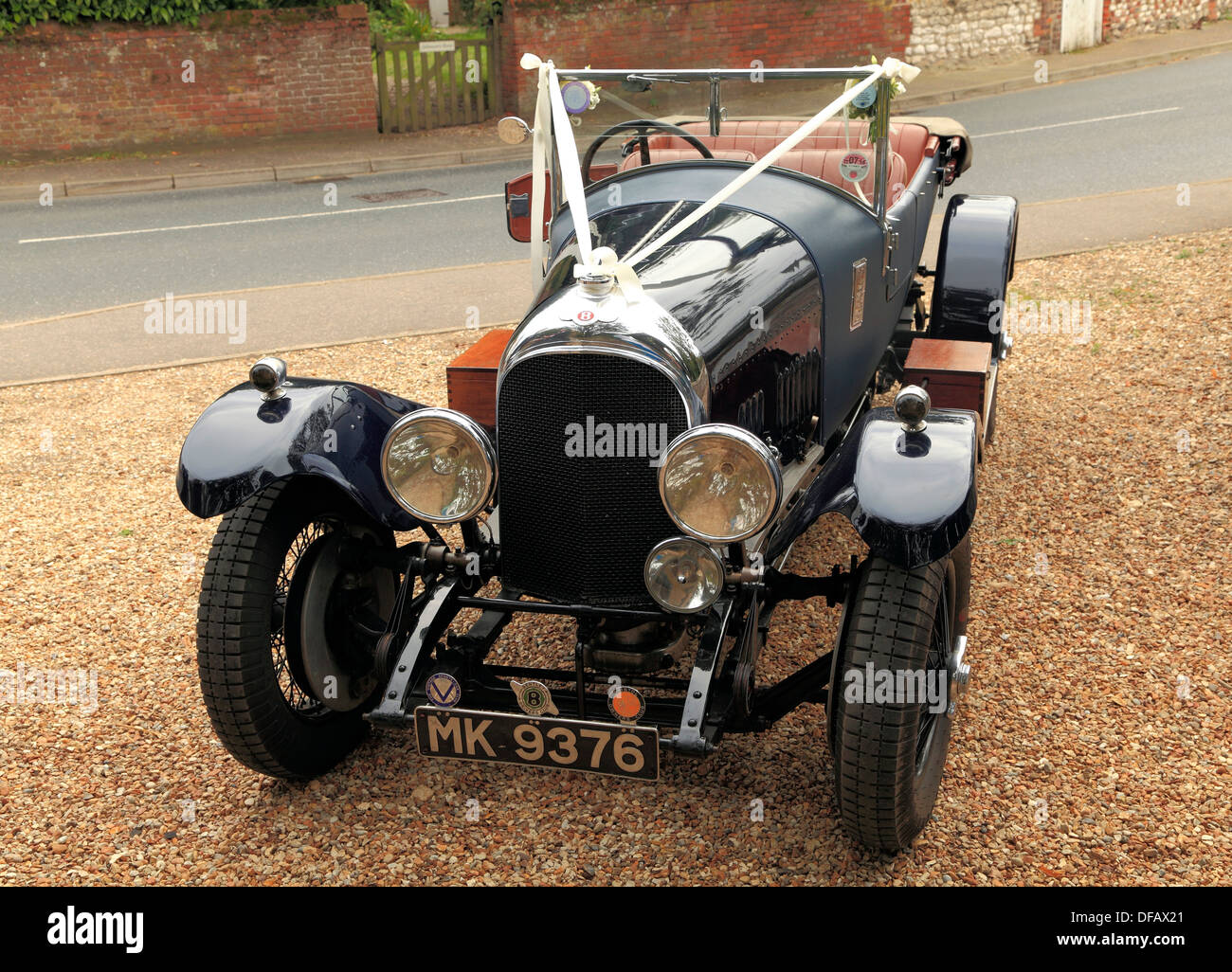 Vintage Wedding automobile motor car automobiles motors cars UK - Stock Image