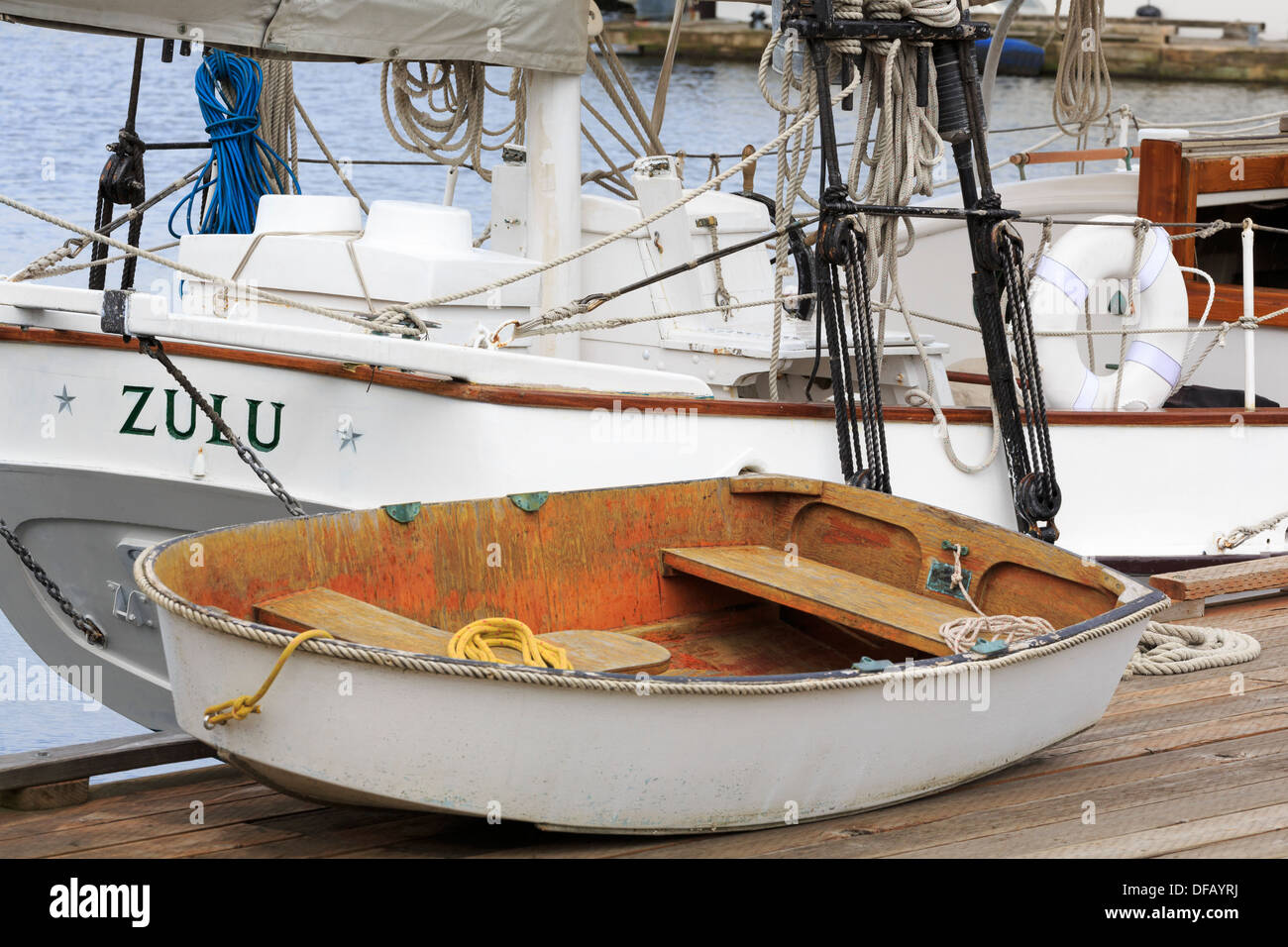 Center for Wooden Boats,Lake Union Park,Seattle,Washington State,USA Stock Photo