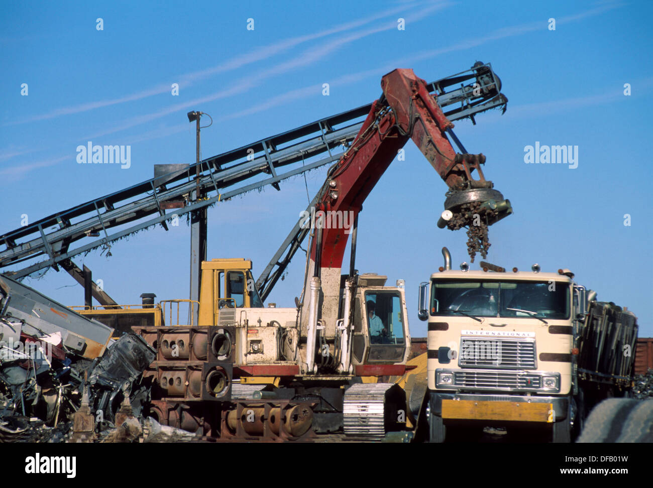 Metal recycling facility - Stock Image
