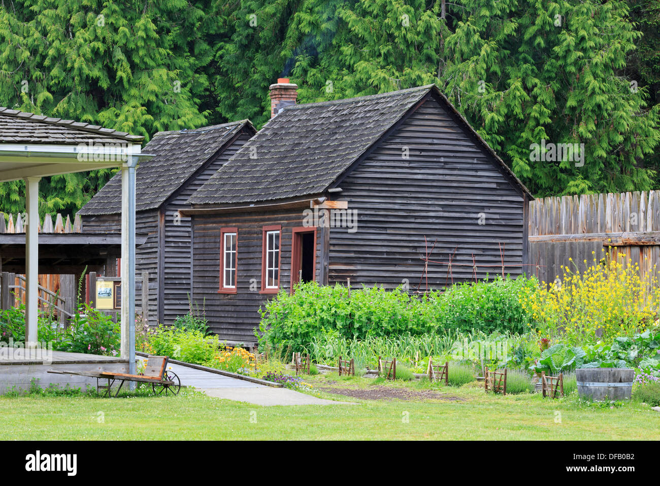 Fort Nisqually in Point Defiance Park,Tacoma,Washington State,USA - Stock Image