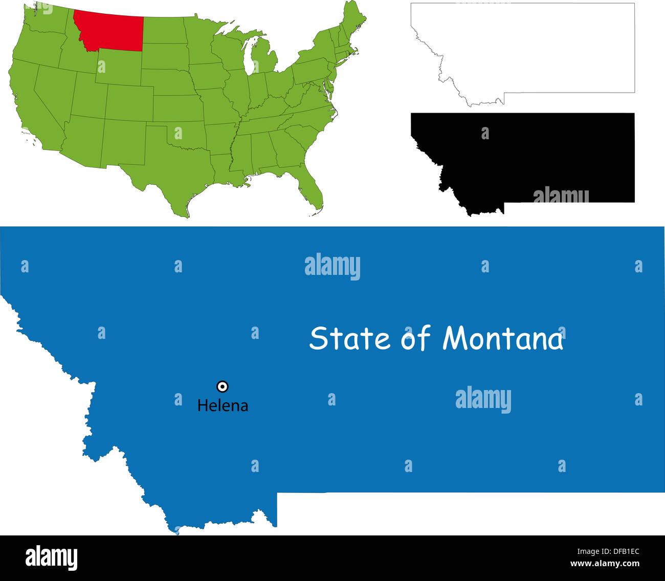 Montana Map Stock Photo 61093604 Alamy